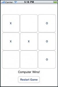 Screenshot of TicTacToe_iOS